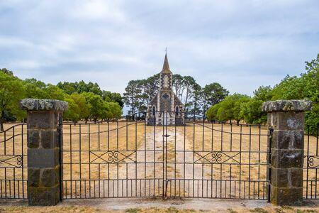 St. John Uniting Church in Streatham, Victoria, Australia 版權商用圖片 - 138380225