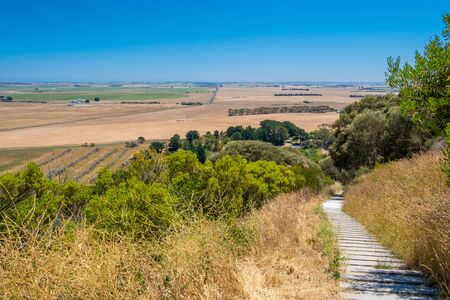 Countryside and stairs leading to the Mount Schank volcano in South Australia 版權商用圖片