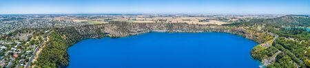 Wide aerial panorama of the famous Blue Lake at Mount Gambier, South Australia Reklamní fotografie