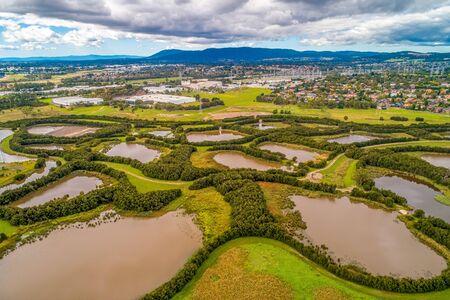 Nature reserve aerial view in Melbourne, Australia Stock Photo