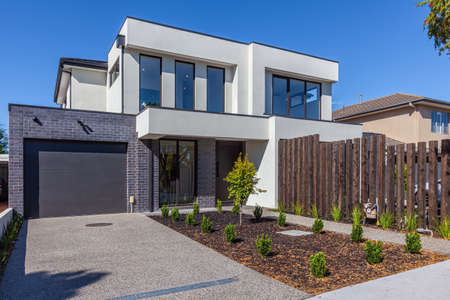 Modern townhouse building exterior in Australia