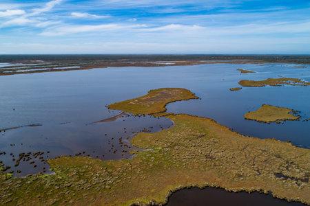 Gippsland Lakes Coastal Park - aerial view in Victoria, Australia 写真素材