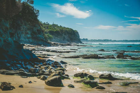 Breathtaking ocean coastline near Inverloch in Victoria, Australia