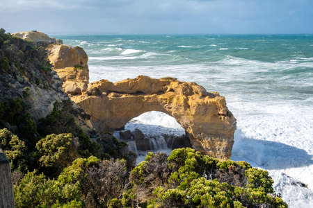 The Arch rock formation. Great Ocean Road, Victoria, Australia Stock Photo