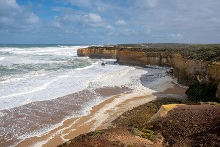 Rugged scenic coastline on the Great Ocean Road, Victoria, Australia