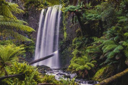 Beautiful Hopetoun falls in the Otways, Victoria, Australia Stock Photo