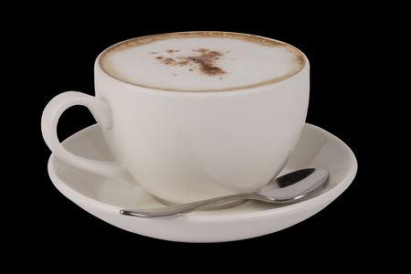 capucinno: Coffee Cup with hot coffee