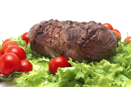chant: large roast beef meat chant Stock Photo