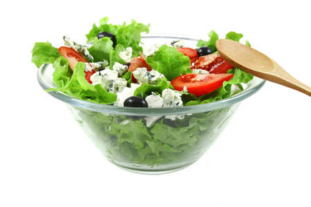epicurean: vegetable salad with goat cheese Stock Photo