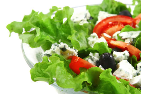 stilton: served vegetable salad with stilton cheese