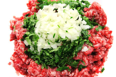 mince beef close up  top view photo