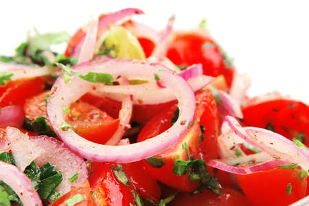 very close up of freshness tomato salad Stock Photo - 4528655