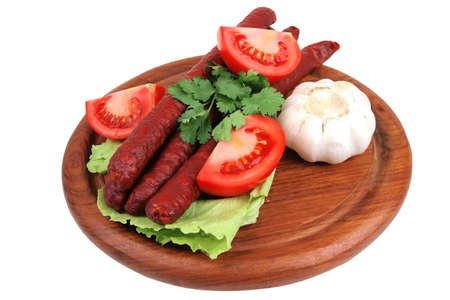 bavarian got dog ready to eat over white Stock Photo - 4552782