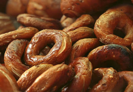 fresh loaf heap on bakery show window Stock Photo - 4596584