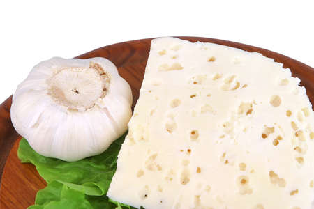 white goat hard cheese close up on wood Stock Photo - 4625781
