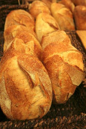 fresh sweet bread on tray on open market Stock fotó