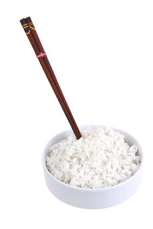white china rice and wood sticks Stock Photo - 4841955
