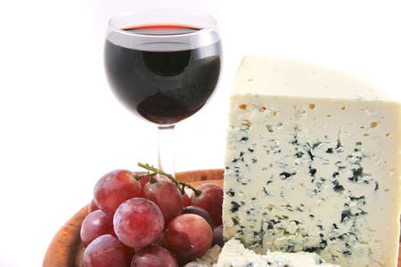 stilton: stilton cheese and grapes  with red wine