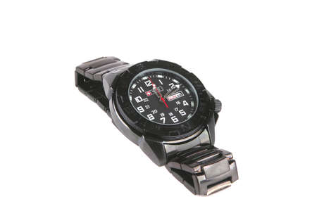 single male black watches over white background Stock Photo - 5666941
