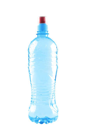 mineral water bottle isolated over white background photo