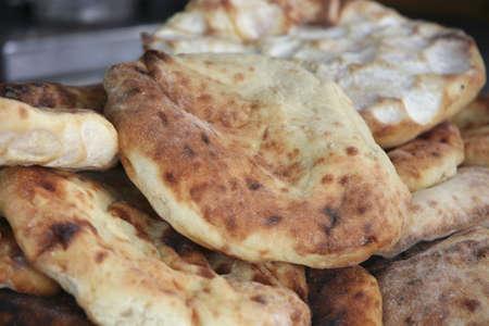 fresh roast tortilla heap on open market Stock Photo - 5729442