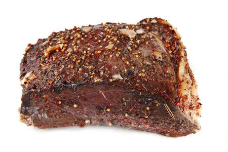 Brocken: Frische ganze Braten Rindfleisch Chunk auf wei?