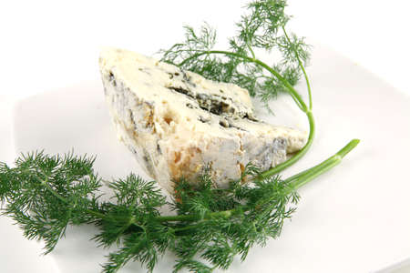 soft moldy roquefort cheese on white cheese photo