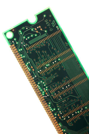 close up image of memory module over white photo