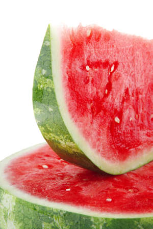 fresh raw red watermelon slice on plate