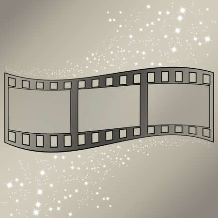 starfall: image of photo film strip as background