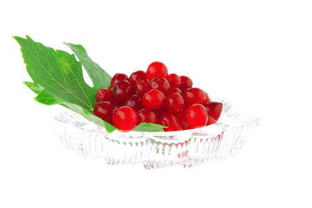 image of wild berry on tranparent glass over white Stock Photo - 7501357