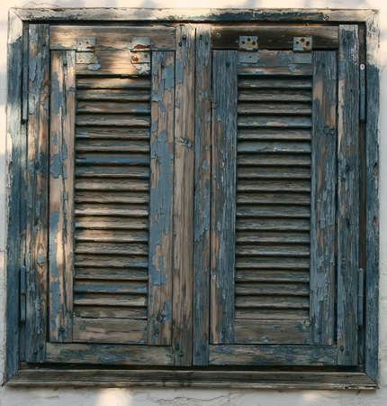 image of antique wooden windows as background photo