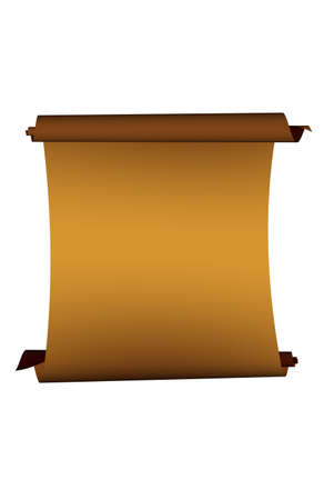 warrant: image of paper scroll over white background
