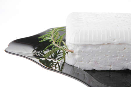 image of soft feta cheese and rosemary Stock Photo - 7862347