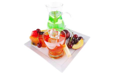 imagen de helado de frutas con frutas y bebidas Foto de archivo - 7862314