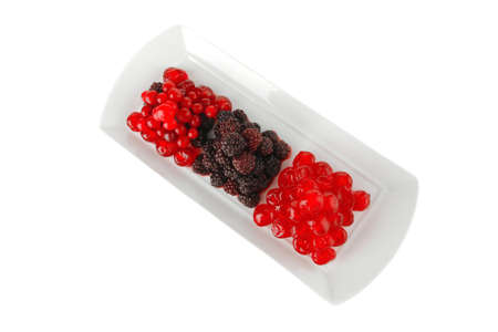 sweet clear cherry and wild berry on plate Stock Photo - 7896389