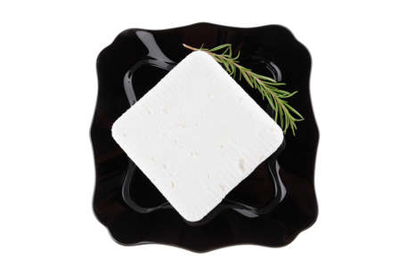 image of soft feta cheese and rosemary Stock Photo - 8262431
