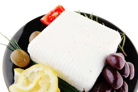 image of rare olives and feta cube Stock Photo - 8917843