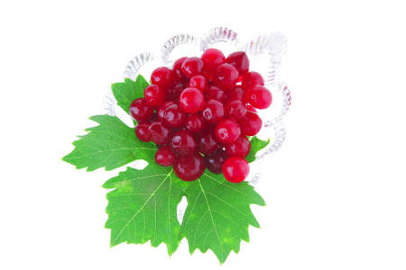 image of wild berry on tranparent glass over white Stock Photo - 9435132