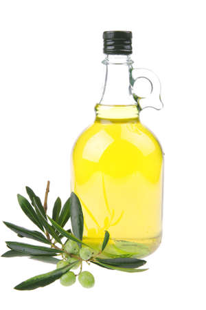 extra: isolated bottle of oil over white background