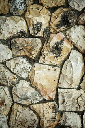 old style vintage concrete cracked stone wall background photo