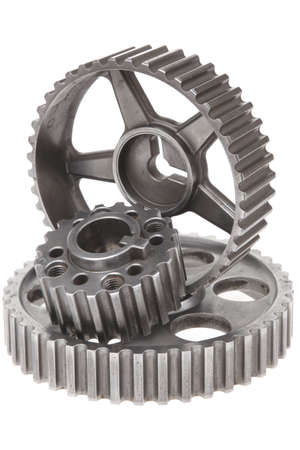 real used stainless steel car gears isolated over white background Stock Photo - 11130023