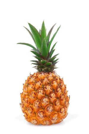 fresh raw pineapple isolated over white background Standard-Bild