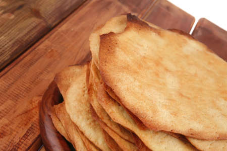 big hot baked cakes served on wooden plate Stock Photo - 12078305