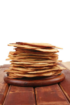 big hot baked cakes served on wooden plate Stock Photo - 12265014