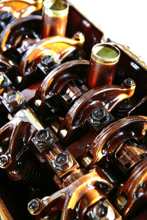 engine oil: car engine inside view isolated over white