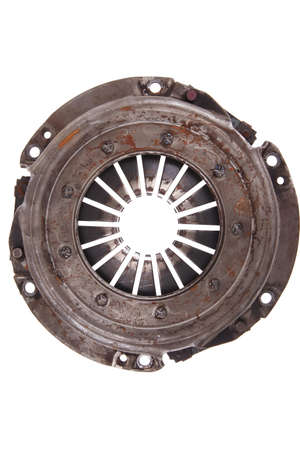 real used car clutch isolated over white background photo
