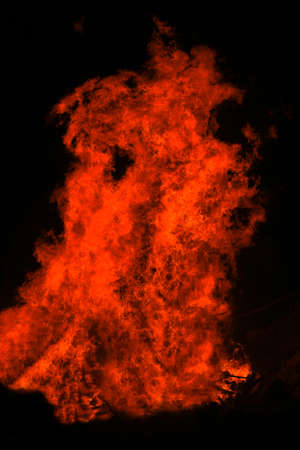 red fire tongue on black background Stock Photo - 17460394