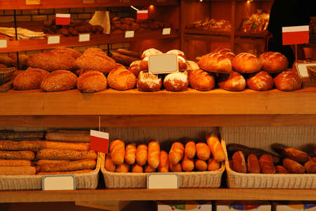 baked buns on market Stock Photo - 17460528