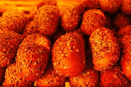 baked buns on market Stock Photo - 17527858